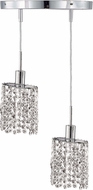 Elegant 1282D-R-E-CL-RC Mini Royal Cut Chrome Multi Drop Lighting
