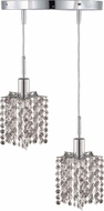 Elegant 1282D-R-P-CL-RC Mini Royal Cut Chrome Multi Drop Ceiling Lighting