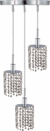 Elegant 1283D-R-R-CL-RC Mini Royal Cut Chrome Multi Hanging Lamp