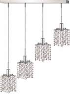 Elegant 1284D-O-P-CL-RC Mini Royal Cut Chrome Multi Pendant Lighting Fixture