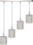 Elegant 1284D-O-S-CL-RC Mini Royal Cut Chrome Multi Hanging Pendant Light