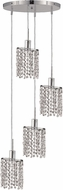 Elegant 1284D-R-E-CL-RC Mini Royal Cut Chrome Multi Pendant Hanging Light