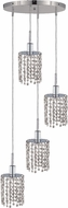 Elegant 1284D-R-R-CL-RC Mini Royal Cut Chrome Multi Drop Lighting