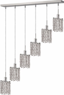 Elegant 1286D-O-E-CL-RC Mini Royal Cut Chrome Multi Pendant Lighting