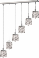Elegant 1286D-O-P-CL-RC Mini Royal Cut Chrome Multi Pendant Light