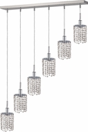 Elegant 1286D-O-R-CL-RC Mini Royal Cut Chrome Multi Lighting Pendant