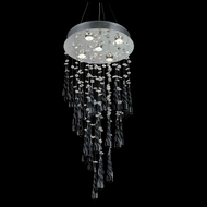 Elegant 2024D16C-GLB-RC Comet Chrome Finish 16  Wide Multi Pendant Lamp