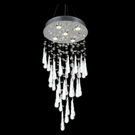 Elegant 2024D16C-GLW-RC Comet Chrome Finish 32  Tall Multi Hanging Lamp