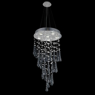 Elegant 2024D18C-GLB-RC Comet Chrome Finish 18  Wide Multi Hanging Light