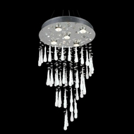 Elegant 2024D24C-GLW-RC Comet Chrome Finish 36  Tall Multi Hanging Pendant Lighting