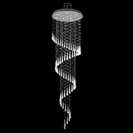 Elegant 2024G28C-GLW-RC Comet Chrome Finish 96  Tall Multi Drop Lighting