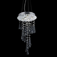 Elegant 2028D26C-GLB-RC Comet Chrome Finish 16  Wide Multi Drop Ceiling Lighting