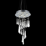 Elegant 2028D26C-GLW-RC Comet Chrome Finish 26  Tall Multi Ceiling Light Pendant