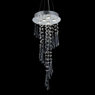 Elegant 2028G36C-GLB-RC Comet Chrome Finish 36  Tall Multi Drop Ceiling Light Fixture