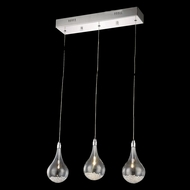 Elegant 2054D3O-RC Edison Chrome Finish 90  Tall Multi Ceiling Pendant Light