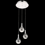 Elegant 2054D3R-RC Edison Chrome Finish 13  Wide Multi Drop Ceiling Light Fixture