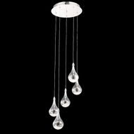 Elegant 2054D5R-RC Edison Chrome Finish 16  Wide Multi Pendant Lighting