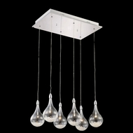 Elegant 2054D6O-RC Edison Chrome Finish 90  Tall Multi Pendant Light