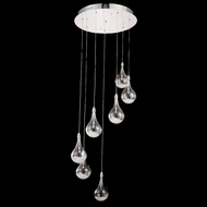 Elegant 2054D7R-RC Edison Chrome Finish 120  Tall Multi Pendant Lamp