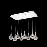 Elegant 2054D8O-RC Edison Chrome Finish 13.5  Wide Multi Hanging Lamp
