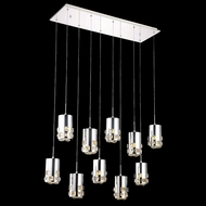 Elegant 2055D10O-RC Broadway Chrome Finish 90  Tall LED Multi Hanging Light