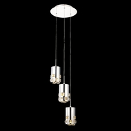 Elegant 2055D3R-RC Broadway Chrome Finish 12  Wide LED Multi Hanging Pendant Lighting