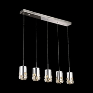 Elegant 2055D5O-RC Broadway Chrome Finish 90  Tall LED Multi Hanging Pendant Light