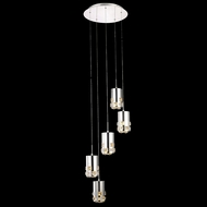Elegant 2055D5R-RC Broadway Chrome Finish 16  Wide LED Multi Pendant Hanging Light