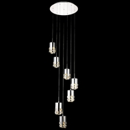 Elegant 2055D7R-RC Broadway Chrome Finish 120  Tall LED Multi Drop Ceiling Lighting