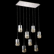 Elegant 2055D8O-RC Broadway Chrome Finish 11  Wide LED Multi Ceiling Light Pendant