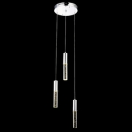 Elegant 2056D3R-RC Diva Chrome Finish 95  Tall LED Multi Drop Lighting Fixture