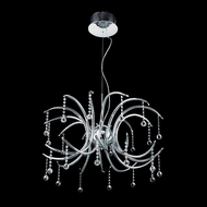 Elegant 2093D28C-RC Hydra Chrome Finish 18.5  Tall Chandelier Lamp