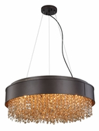 Elegant 2103DF24MDB-GT-RC Regency Matte Dark Brown Halogen 24  Pendant Lighting / Ceiling Lighting Fixture