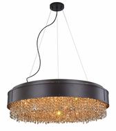 Elegant 2103DF30MDB-GT-RC Regency Matte Dark Brown Halogen 30  Pendant Light / Ceiling Light Fixture