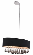 Elegant 2105G36C-RC Metro Chrome Island Lighting