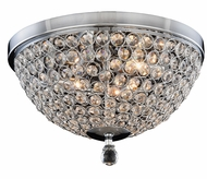 Elegant 2106F14C-RC Brida Chrome Halogen 14.2  Ceiling Light