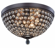 Elegant 2106F14MDB-RC Brida Matte Dark Brown Halogen 14.2  Ceiling Light Fixture