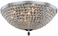 Elegant 2106F21C-RC Brida Chrome Halogen 21.7  Flush Lighting