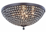 Elegant 2106F21MDB-RC Brida Matte Dark Brown Halogen 21.7  Flush Mount Lighting