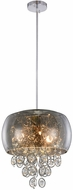 Elegant 2112D16C-RC Jordan Chrome Halogen 16  Hanging Light Fixture