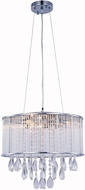 Elegant 2115DF16C-RC Noble Chrome Halogen 16  Drum Drop Ceiling Lighting