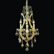 Elegant 2800D12GT-GT-RC Maria Theresa Golden Teak Finish 12  Wide Foyer Pendant Lighting
