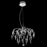 Elegant 5008D20C-EC Amour Chrome Finish 14.5  Tall Mini Chandelier Light