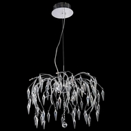 Elegant 5008D24C-EC Amour Chrome Finish 24  Wide Ceiling Chandelier