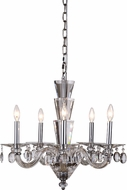 Elegant 7870D23C-RC Augusta Chrome Mini Hanging Chandelier