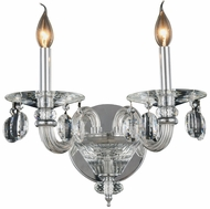 Elegant 7870W15C-RC Augusta Chrome Wall Lighting Sconce