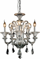 Elegant 7871D20C-RC Aurora Chrome Mini Chandelier Light