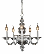 Elegant 7872D20C Champlain Chrome Mini Chandelier Light