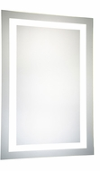 Elegant Lighting MRE-6004 Element Contemporary Glossy White LED 24 x 40 Rectangle Wall Mounted Mirror