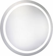Elegant Lighting MRE-6006 Element Contemporary Glossy White LED 36 Round Wall Mounted Mirror